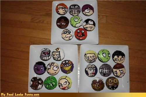 animation characters cupcakes faces futurama Sweet Treats television TV tv shows - 4153454336