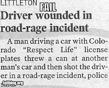 cars driving failboat g rated irony newspaper road rage