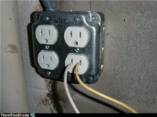 dangerous electricity lazy outlet