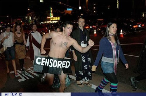 au natural censor costume public - 4154045952