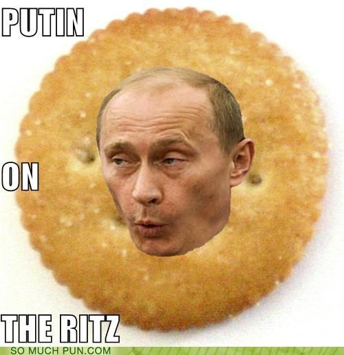 challenge,check list,chekhov,cracker,puns,putting on the ritz,ritz,russian,Vladimir Putin