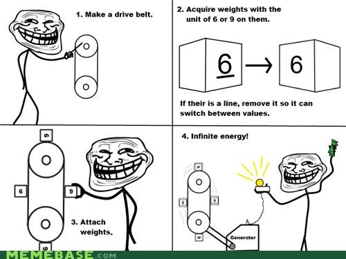 Memes perpetual motion machine troll science unlimited power - 4154503168