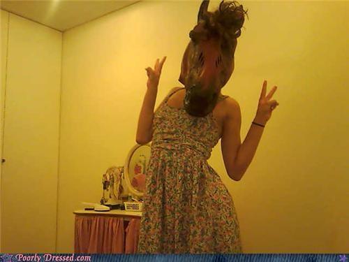 horse mask sarah jessica parker wtf - 4155227136