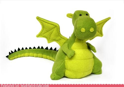 Yoki the dragon soft toy sewing pattern