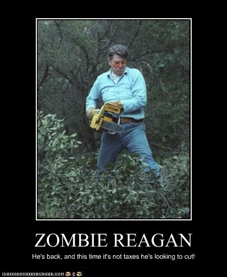 demotivational funny Hall of Fame lolz president republican Ronald Reagan zombie - 4155713024