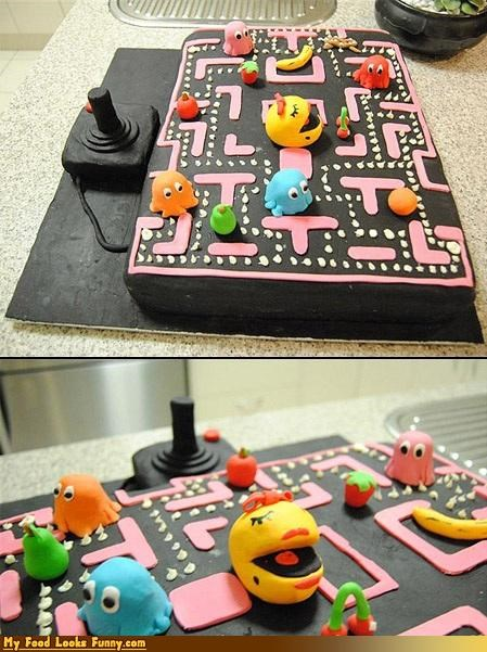 birthday cake ms pac man old school Sweet Treats video game - 4155895552