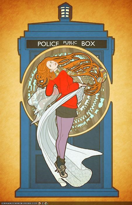 amy pond art doctor who Hall of Fame sci fi - 4156286464