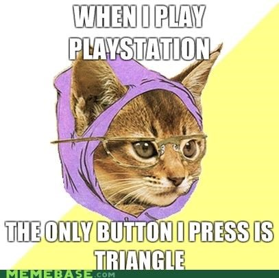 hipster Hipster Kitty Memes triangle - 4156545536