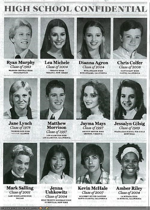 actors,glee,Hall of Fame,yearbook