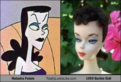Barbie cartoons dolls natasha fatale rocky and bullwinkle