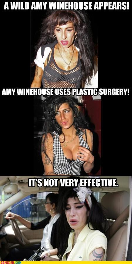 amy winehouse,appearances,boobs,celebutard,its not very effective,Pokémon,surgery