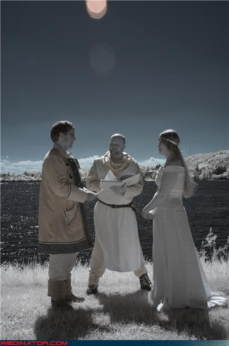 bride,crusader knight wedding officiant,fantasy wedding,fashion is my passion,funny wedding photos,groom,nice wedding picture,pirate groom,romance,themed wedding,viking princess bride,Viking themed wedding,were-in-love,Wedding Themes