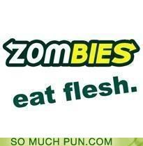 catchphrase eat eat fresh flesh logo parody photoshop redo Subway zombie