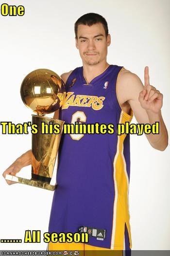 One That's his minutes played ....... All season