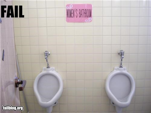 failboat gender bender g rated poor planning restroom urinals - 4158313472