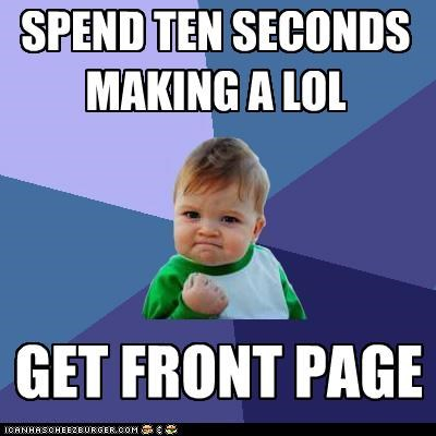 front page,Memes,success kid