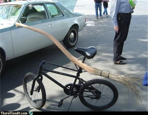 bicycle bike broom Hall of Fame transportation - 4158980096