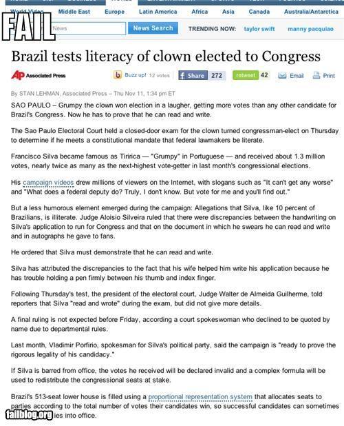 clowns failboat literacy news Probably bad News tests - 4159013376