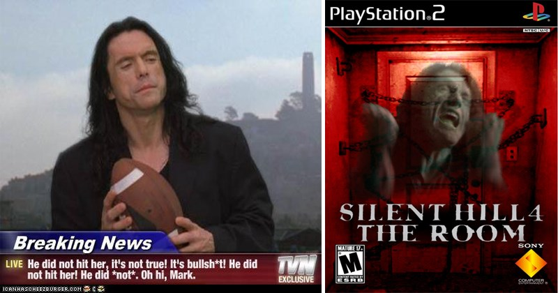"Funny memes about cult classic film ""The Room"" Starring Tommy Wiseau and Greg Sestero."