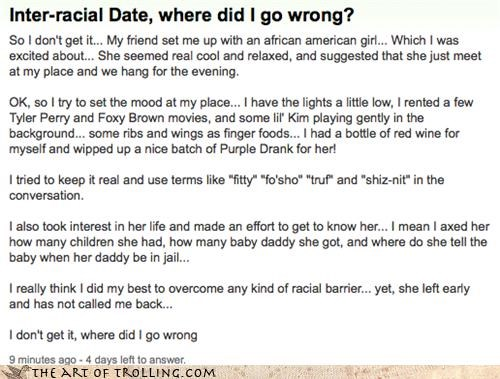 all wrong,dating,racism,stereotypes