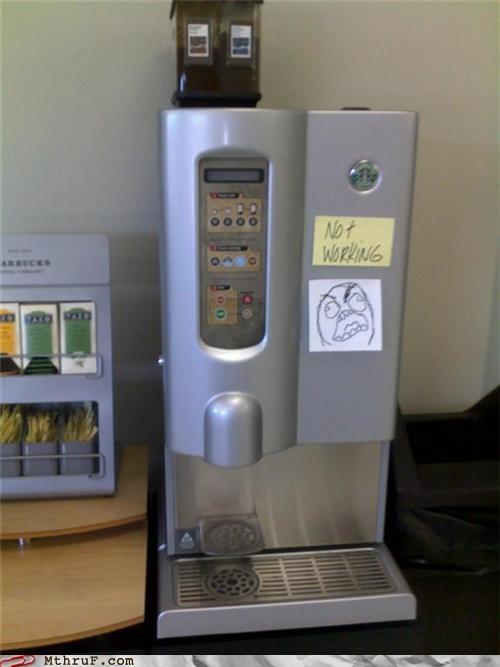 broken coffee fffffffffuuuuuu rage - 4159666688