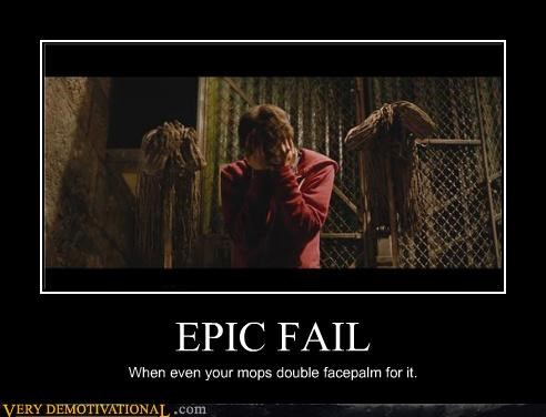 epic broom FAIL facepalm - 4159977728
