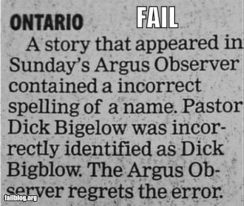 corrections,failboat,innuendo,names,newspaper,oh canada