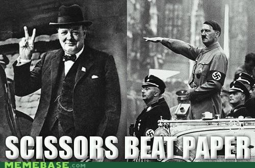 about this tall,adolf hitler,have-you-seen-kyle,Memes,paper,Rochambeau,rock,scissors,winston churchill