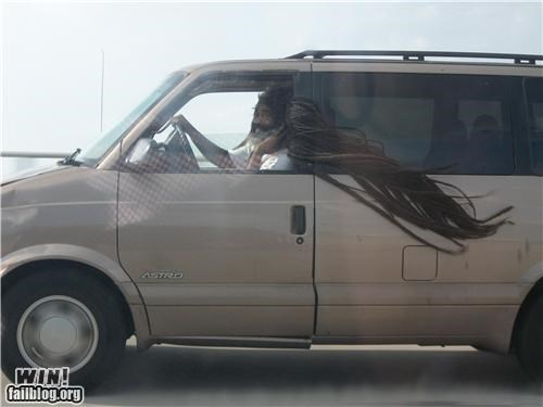 car dreadlocks driving hair - 4160212992