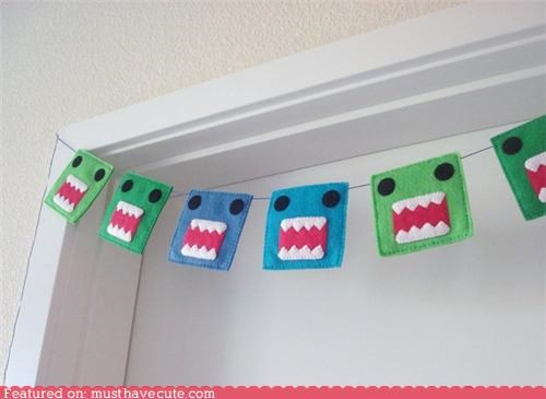 decorations Monster Garland Party - 4160331520