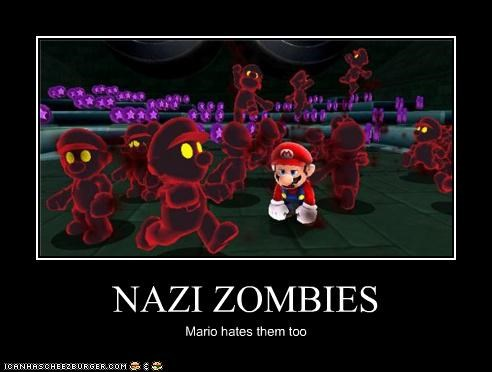 NAZI ZOMBIES Mario hates them too