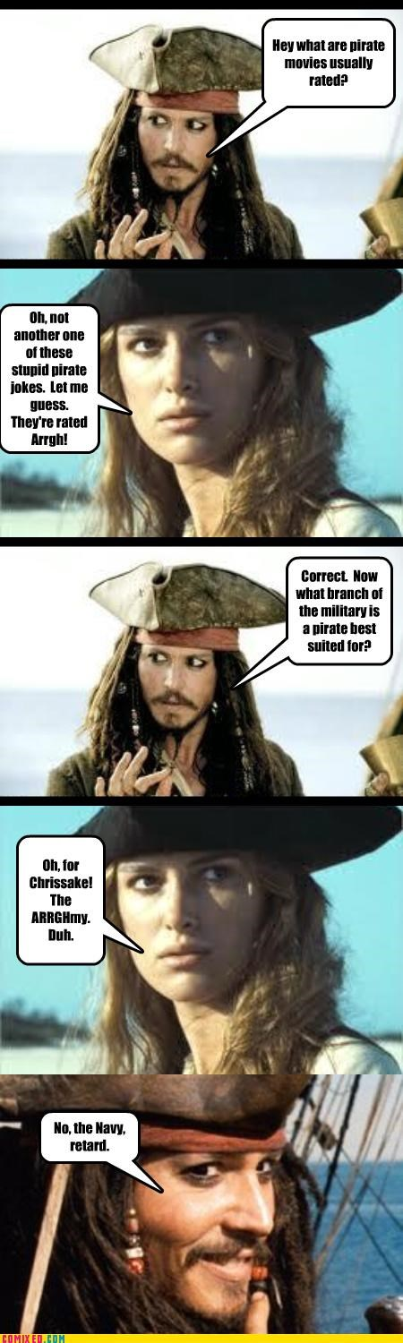 From the Movies funny Johnny Depp jokes pirates puns - 4160866816