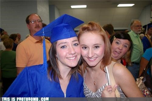 cool glasses,funny face,graduation,nice shirt,photobomb,school