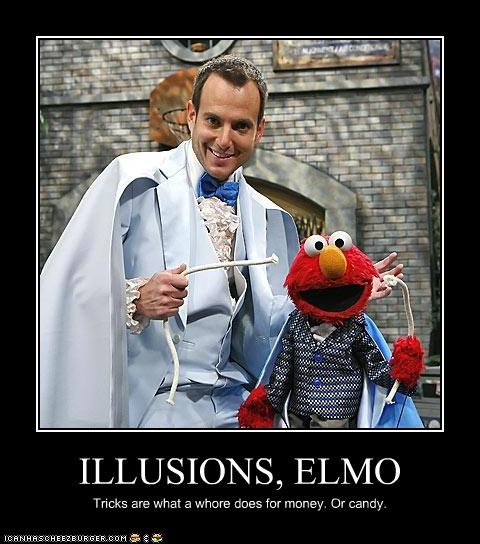 actor,celeb,demotivational,elmo,funny,Sesame Street,will arnett
