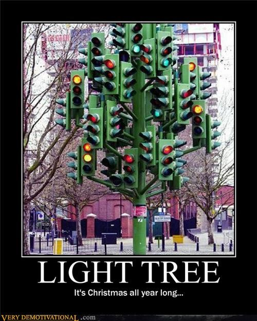christmas stoplight tree