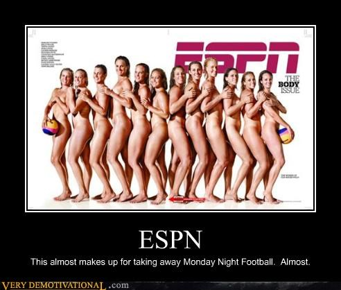 babes,espn,monday night football,mondays,nudity,the body issue