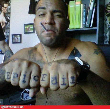 Internet phenomena,knuckle tats,words
