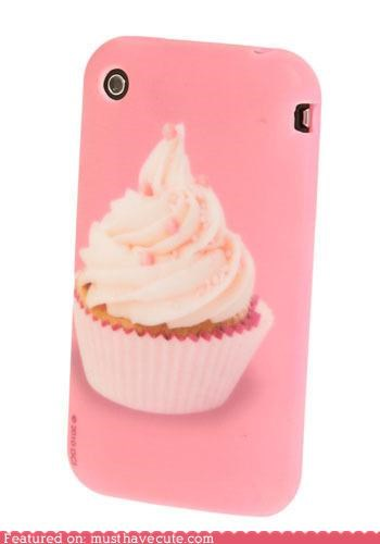 case,cover,cupcake,gadget,phone,pink