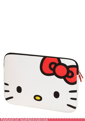 bag,computer,hello kitty,laptop sleeve,zip