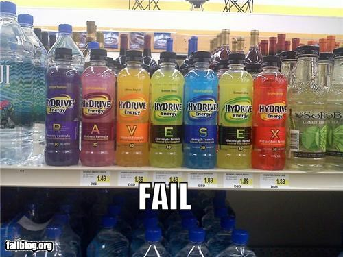 drinks,failboat,innuendo,placement,poor planning,raves,shelf