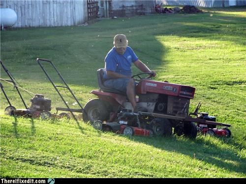 My dad's mower setup :)
