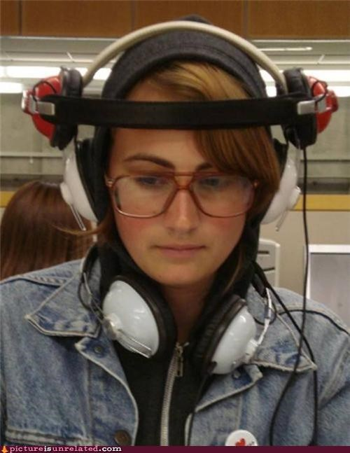 fashion headphones hipsters lol Music wtf - 4162504704