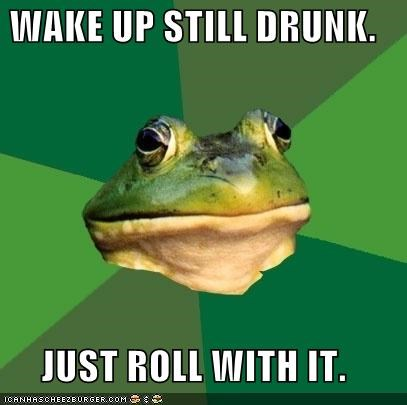 drunk foul bachelor frog Memes roll with it - 4162612736