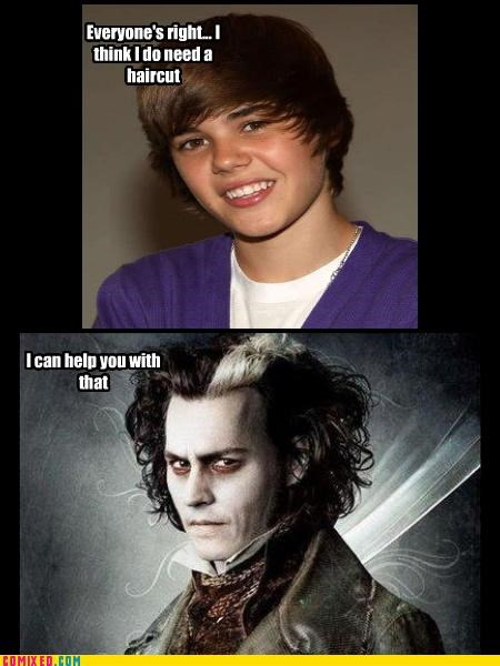 celebutard,Johnny Depp,justin bieber,Music,Sweeney Todd