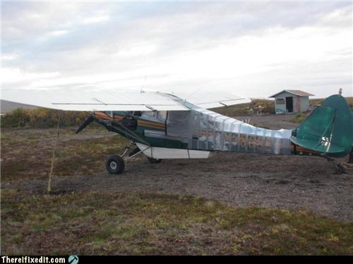 airplane,cautionary fail,classic,duct tape