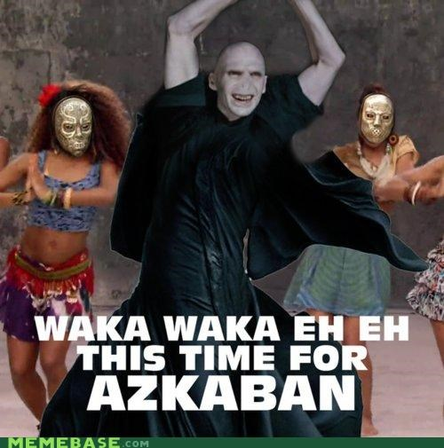 death eaters football Harry Potter Hogwarts Memes shakira soccer waka waka world cup - 4168469760