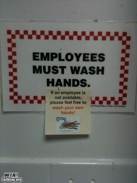 awesome at work bathroom signs - 4168701440