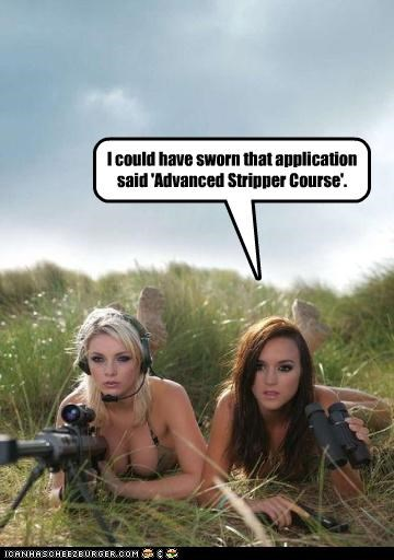 I could have sworn that application said 'Advanced Stripper Course'.