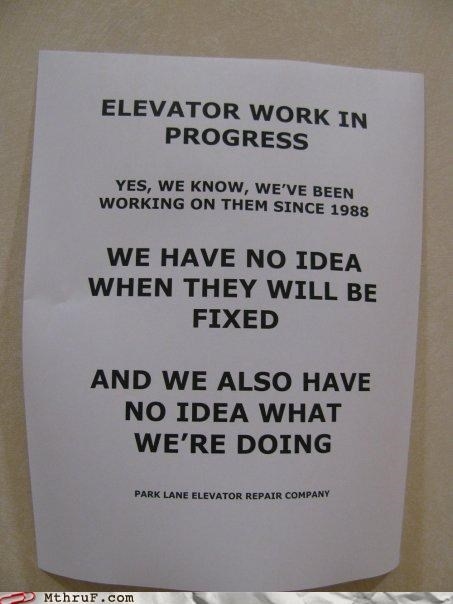 broken elevator health notes signs stairs - 4169469696