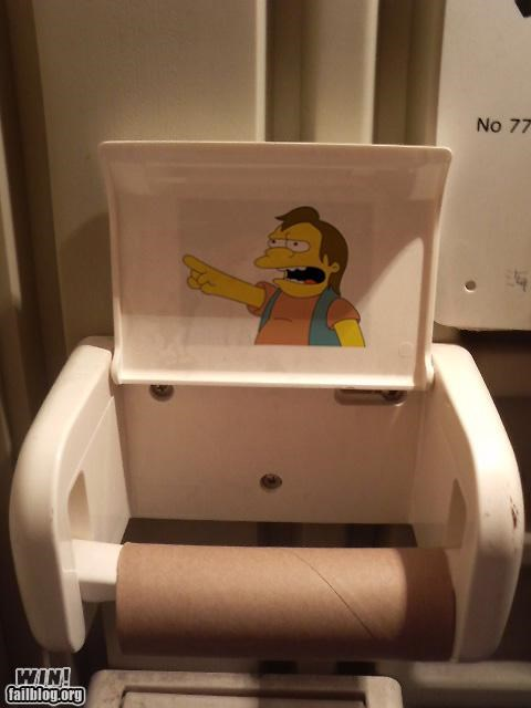 bathroom humor rub it in simpsons toilet paper - 4169482752